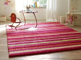 photo tapis funny stripes rose